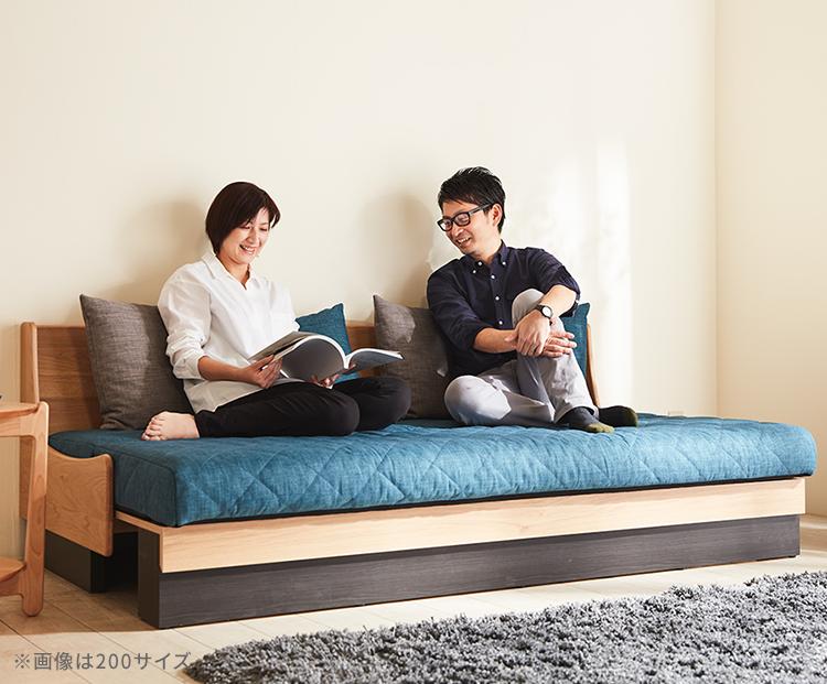 座る・くつろぐ・寝るを実現するひとつで3役の便利なソファベッド