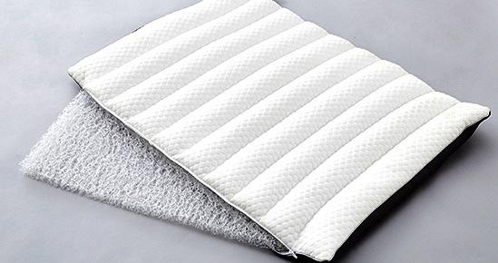 粒綿とライトウェーブの弾力性が体への負担を軽減
