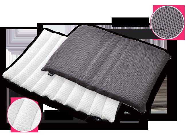 裏面は通気性のよいメッシュ素材 表面は柔らかい肌触りのニット